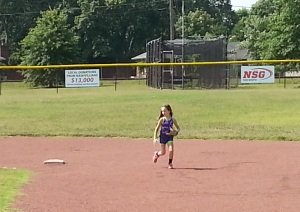 Carly, playing off second base.